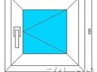 Увидеть фото Двери, окна, балконы Окно пластиковое 500*500 новое 68812004 в Челябинске