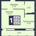 Квартира от застройщика в Жилом Комплекс «Симфония». Оформле