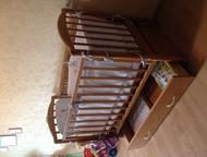Кроватка для новорожденного б/у Детская кроватка с матрасом, в отличном состояни