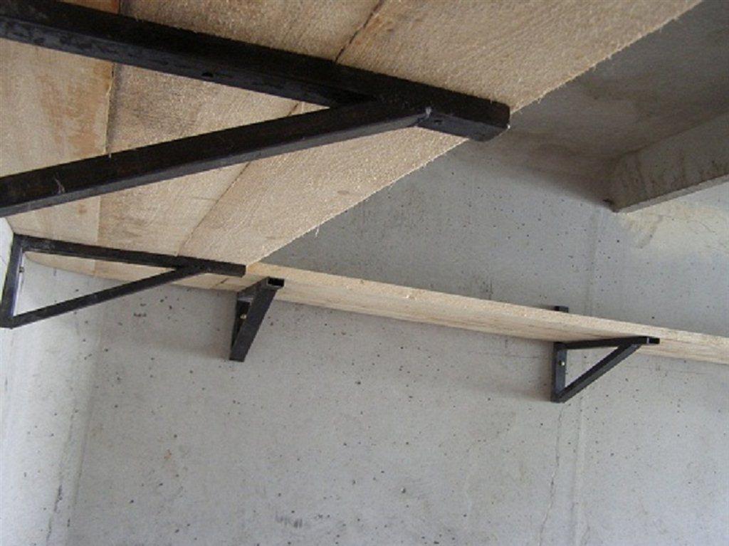 Подвесные полки в гараж своими руками