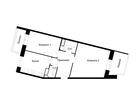 Продается евро-квартира с 2 спальнями и большой кухней-гости