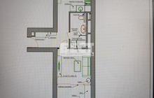 Продается однакомнатная квартира площадью 50 кв.м. на 4-ом э