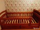 Детская кровать с бортиком из массива (сосна)