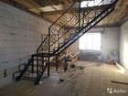 Лестница, металлокаркас, кованые перила