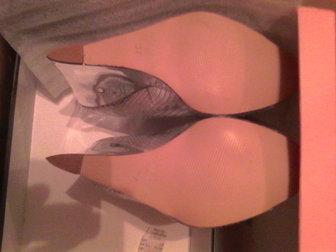 Свежее фотографию  Туфли 36 разм, , новые посеребреные на высокой платформе с открытым носом, 38028450 в Иваново