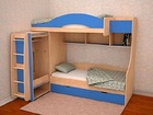 Увидеть фото  Двухъярусная детская кровать Облачко 5 ЛДСП 34271935 в Ижевске