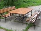 Скачать фотографию  Продам садовую мебель, стол и скамейку, 81408890 в Ижевске
