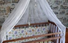 Детская кроватка борты балдахин