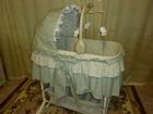 Фотография в Для детей Товары для новорожденных Колыбель-качалка есть колесики. цвет зеленый. в Югорске 4000