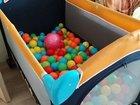 Манеж с шариками, использовался как сухой бассейн