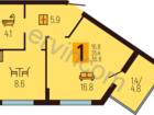 Предлагаем к продаже однокомнатную квартиру в Московском ра