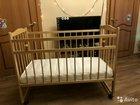 Детская деревянная кроватка с рождения до 3-х лет