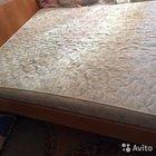 Двуспальная кровать, с матрасом. Б/У
