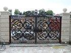 Чугунные ворота из Каслинского литья
