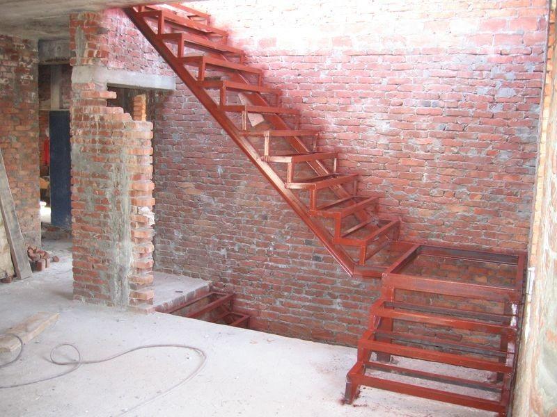 Лестница своими руками из металла фото