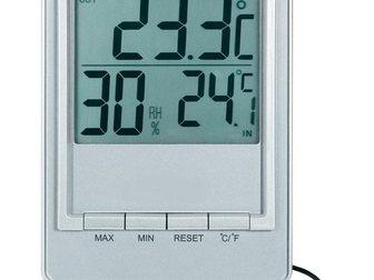 Увидеть фотографию Разное TM1026H термометр с влажностью (серебро) 32448363 в Казани