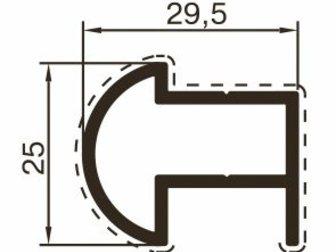 Смотреть foto Отделочные материалы Алюминиевый профиль для сантехнических перегородок 32743145 в Казани