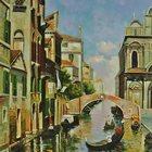 Картина маслом Солнечная Венеция 40х50см и др, Ручная работа