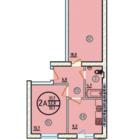 2к, квартира в сданном и заселенном доме