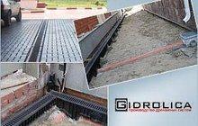 Лотки водоотводные бетонные DN150 с решеткой чугунной Кл, Е600