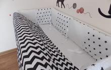 Детское постельное белье в кроватку, бортики