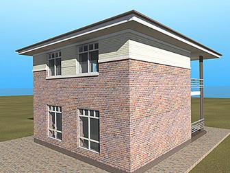 Просмотреть фото  Продам новый 2-эт, дом 130/50/40 м2 (участок 3,1 сот), п, Северный 34524844 в Краснодаре