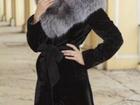 Изображение в   продам мутоновую шубу с двойным капюшоном в Красноярске 12000
