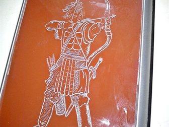 Просмотреть изображение  лицевая панель системника, Лучник, рисунок алюминием на стекле, 32454006 в Красноярске