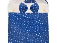 Конверт для новорожденного Futurmama Blue Star Состав:    Верх: Хлопок 100%  Уте
