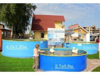 Просмотреть изображение  Бортовой каркасный бассейн Эри 2, 7х1, 25 м 32731005 в Кургане