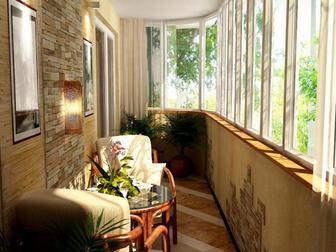 Просмотреть фото  Остекление, ремонт и обустройство балкона под ключ 39341999 в Москве