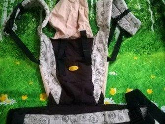 Продаю кенгуру, эргорюкзак для переноски ребенка ткань хлопок, Состояние: Б/у в Кургане