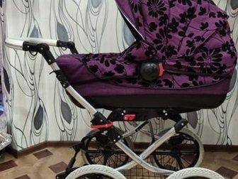 Продам детскую коляску вездеход,  В очень хорошем состоянии,  Колеса накачиваются,  Есть дождевик,  Ручка регулируется по высоте,  Коляска складывается, колеса в Кургане