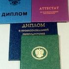 Образование, сертификат, свидетельство