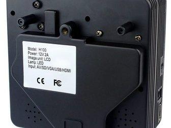 Скачать фотографию Другая техника Мультимедийный мини-проектор мод, H100 ( AV VGA SD USB HDMITV) 32624340 в Москве