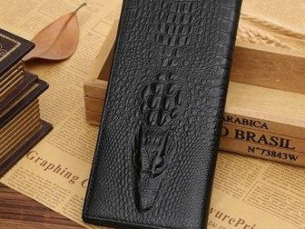 Свежее foto  Мужское портмоне из натуральной кожи Wild Alligator 34872251 в Москве