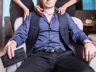 Просмотреть foto  Мужское портмоне из натуральной кожи Wild Alligator 34872251 в Москве