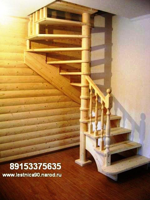Компактная лестница в дачу своими руками