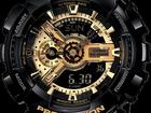 Скачать фото  Часы G-shock 110RG, черные с золотом 34689533 в Котласе