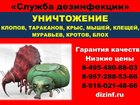 Изображение в   Служба дезинфекции оказывает услуги по в Москве 1000