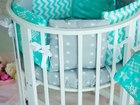 Скачать фото  Детская круглая кроватка -трансформер 5 в 1! 40640393 в Москве