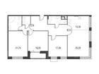 Продается 4-ком ква-ра площадью 137.66 кв.м на 4 этаже 5 эта