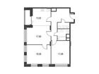 Продается 3-ком ква-ра площадью 90.3 кв.м на 17 этаже 17 эта