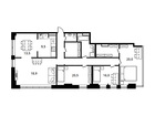 Продается 5-ком апартамент площадью 133.3 кв.м на 20 этаже 2