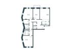 Продается 3-ком ква-ра площадью 141.1 кв.м на 3 этаже 16 эта