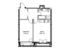 Продается 1-комн. кв-ра площадью 50,95 кв.м на 2 этаже 15 эт