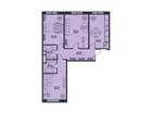 Продается 3-комн. кв-ра площадью 82,4 кв.м на 21 этаже 22 эт