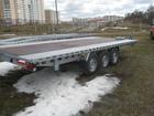 Увидеть фотографию Прицепы для легковых авто Прицеп автовоз 3 оси Польша 3500кг, 550Х240- R14C 82890868 в Москве