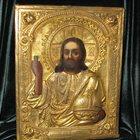 Икона Исус Христос Вседержитель конец 18 начало19 века