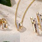 Золотые украшения с бриллиантом